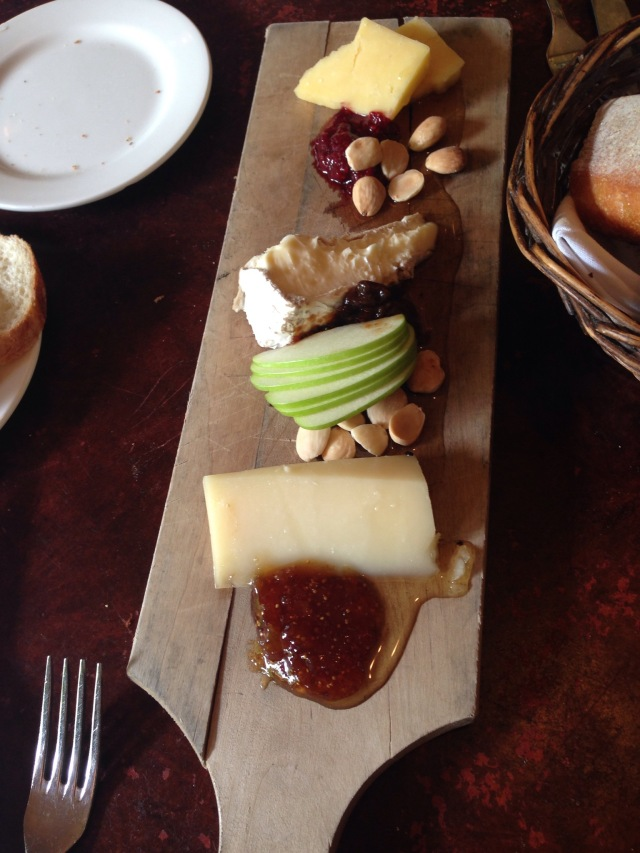 Cheese plate at Parc